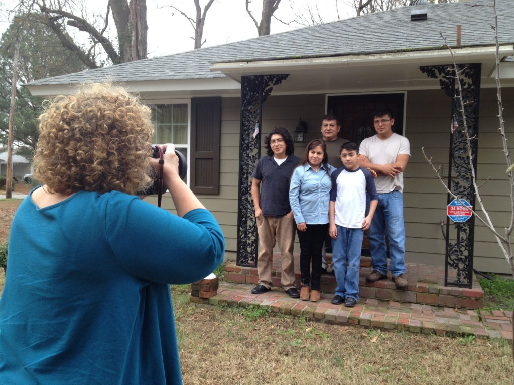 Karen takes a portrait of the Ramos family in Memphis.