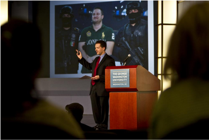 Me speaking at GWU George Washington University